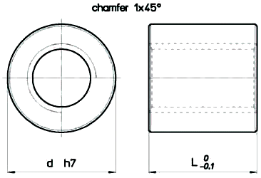 Cylindrical Plastic RPN Nut Diagram