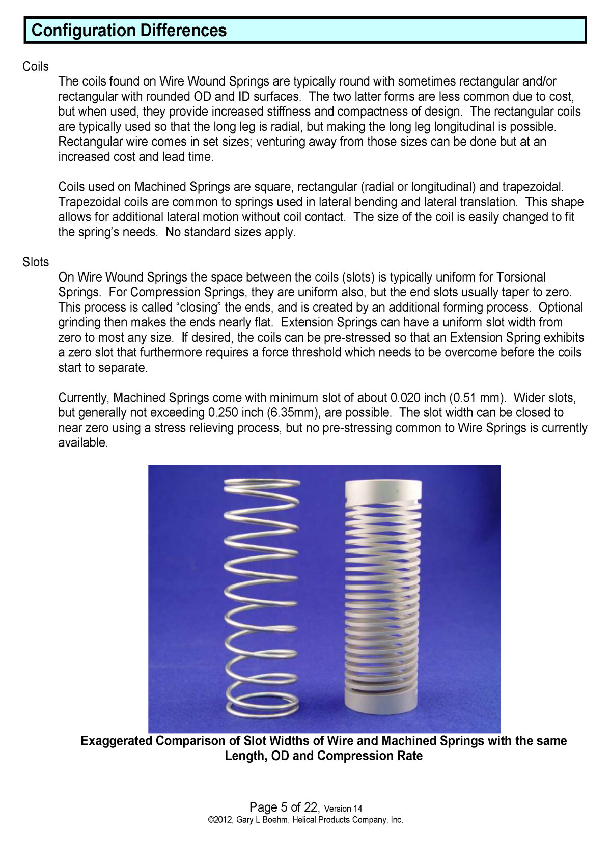 White Paper machined springs vs wound springs Page 5