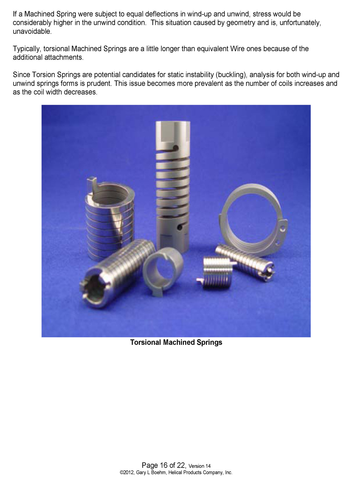 White Paper machined springs vs wound springs Page 10