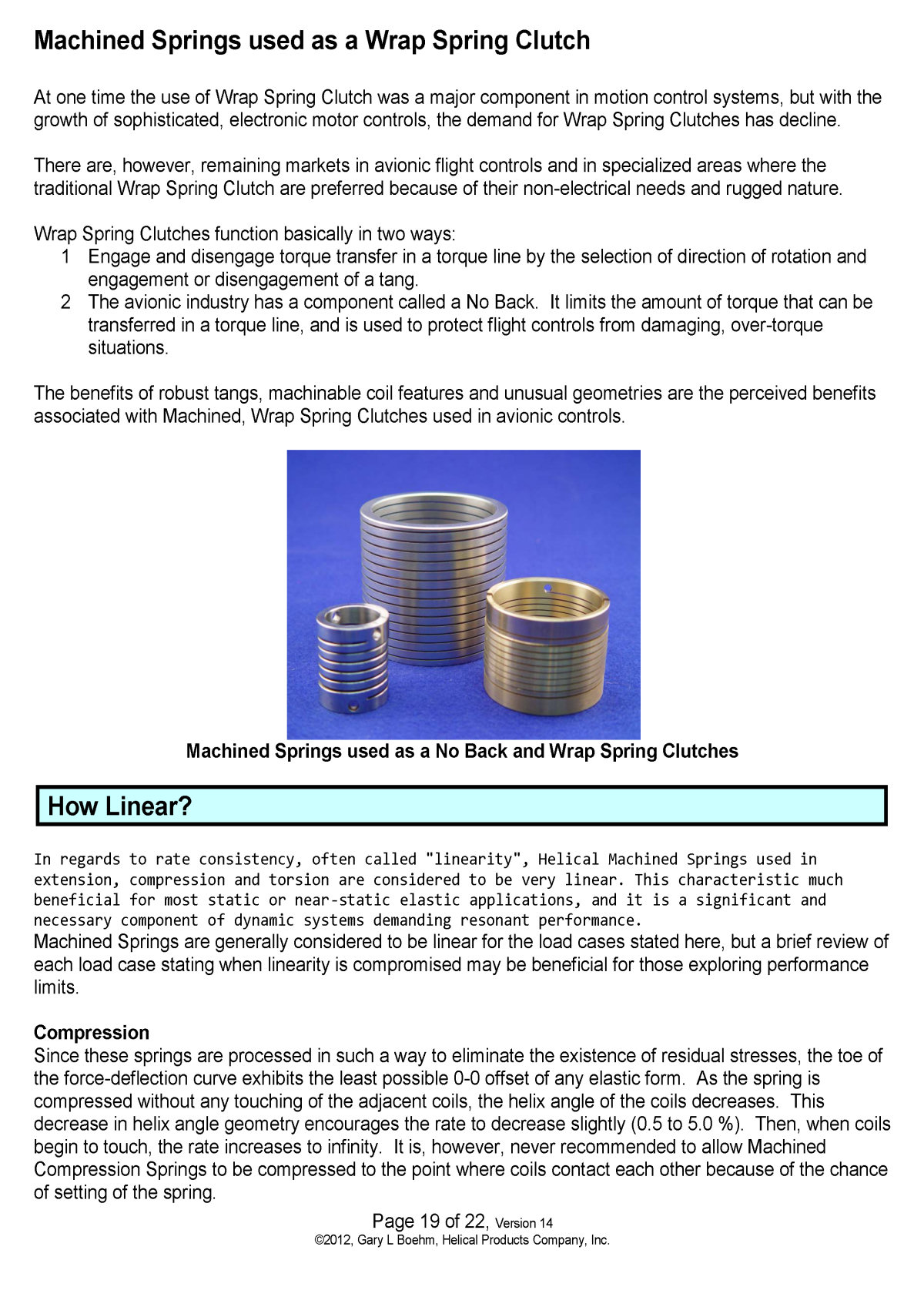 White Paper machined springs vs wound springs Page 6