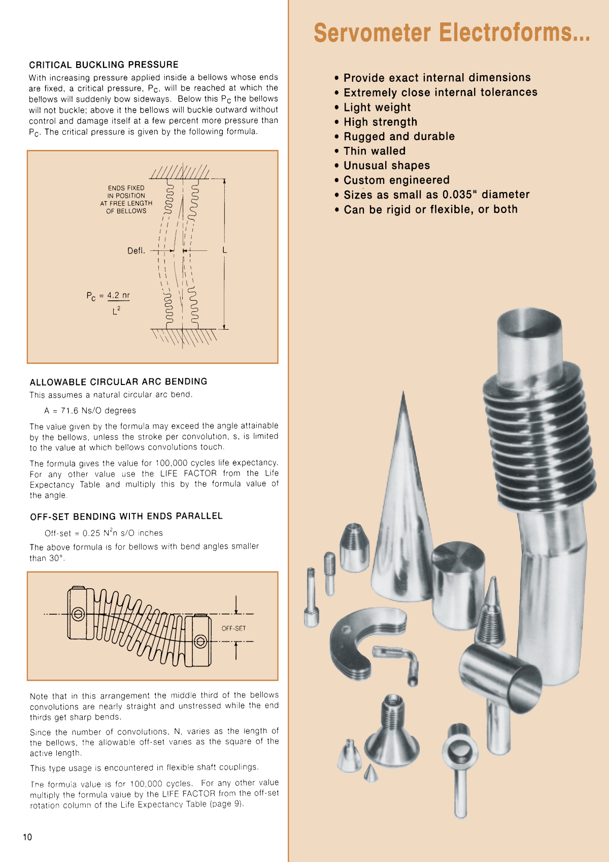 Miniature Metal Bellows & Electroforms Page 10