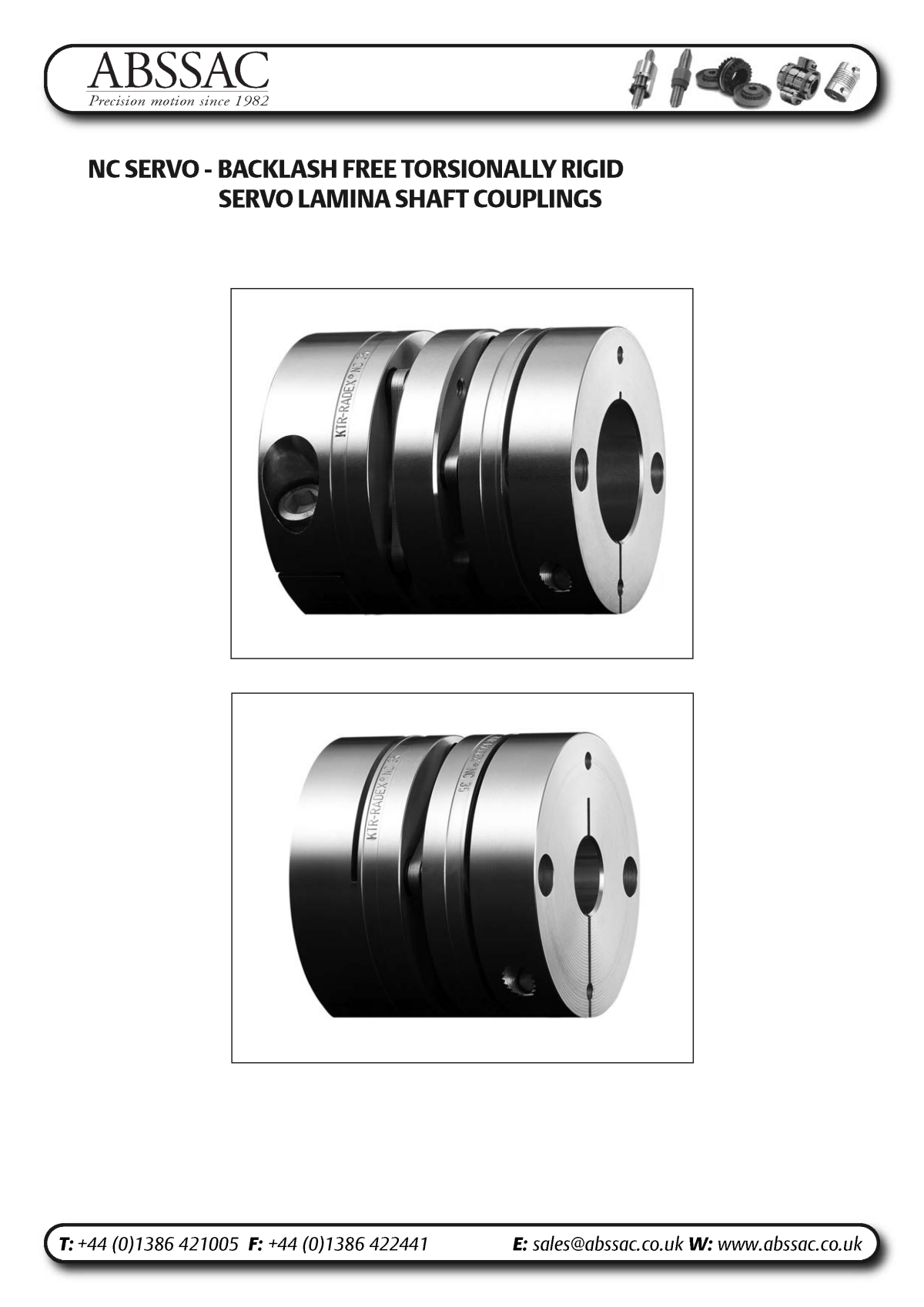 Abssac NC Servo Disc Shaft Coupling Page 1