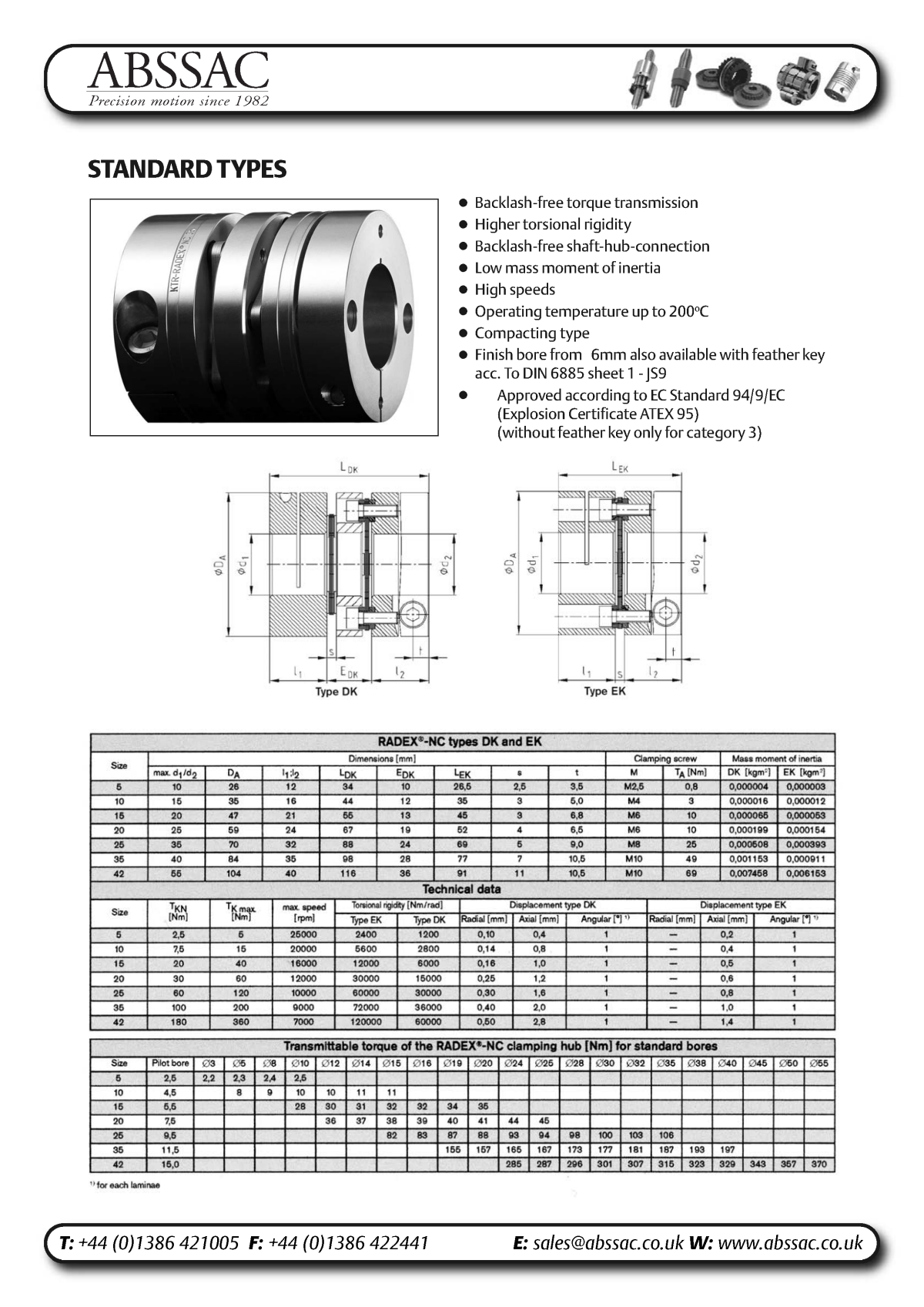 Abssac NC Servo Disc Shaft Coupling Page 5