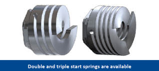 Double and triple start springs are available