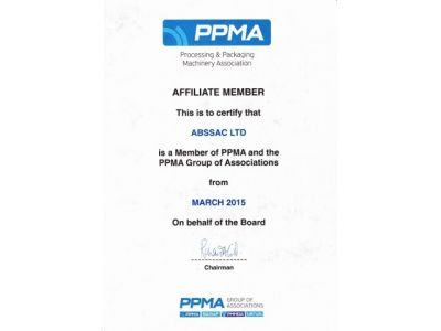 Abssac becomes an affiliate member of PPMA