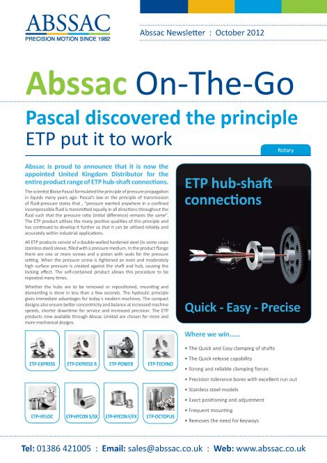 Abssac On-The-Go October 2012