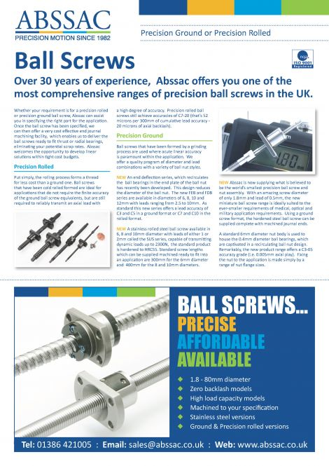 Abssac Ball Screws 2013