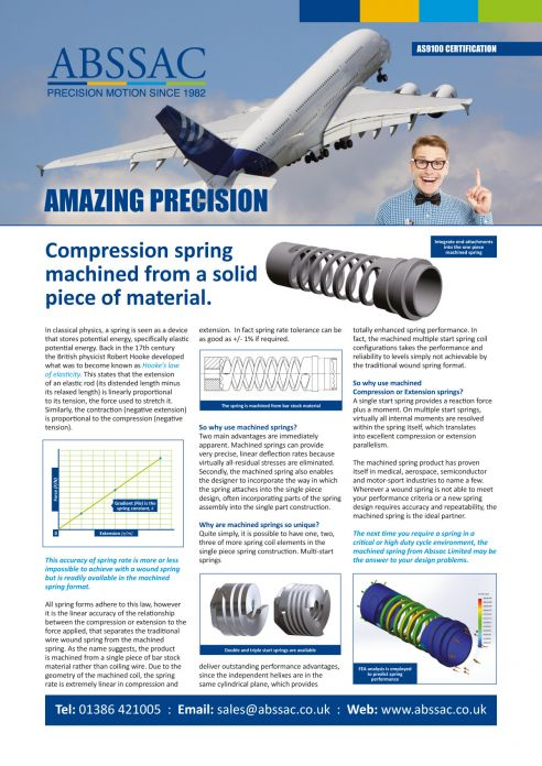 Amazing Precision: Abssac Compression Springs