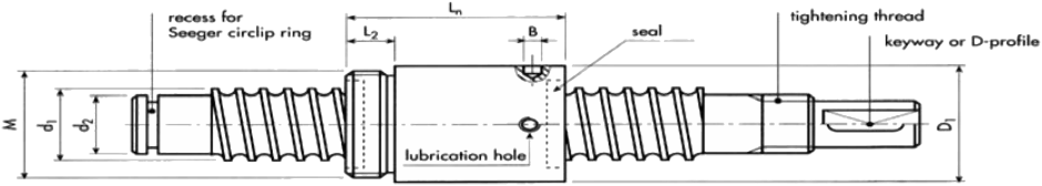 Transport Ball Screw Diagram 1