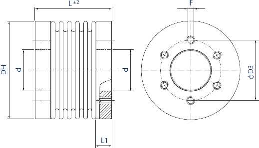HMB7 Bellows Coupling Diagram