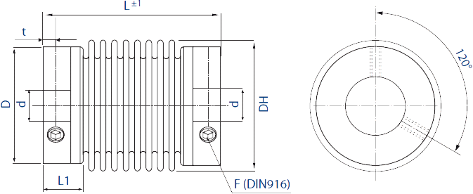 HMB1 Bellows Coupling Diagram