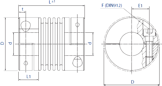 HMB2 Bellows Coupling Diagram