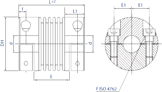 HMB4H Bellows Coupling Diagram