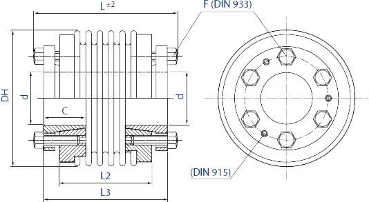 HMB5 Bellows Coupling Diagram