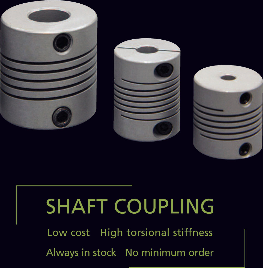 SHAFT COUPLING, Low cost, High torsional stiffness, Always in stock, No minimum order