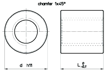 Cylindrical Steel RSN Nut Diagram