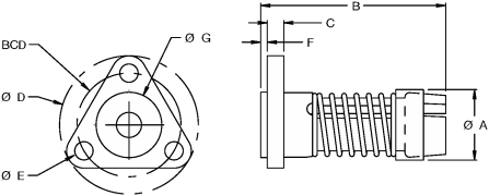 AFT3700 Flange Nut Type Diagram