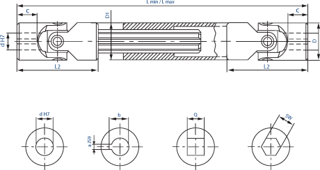 Extendable joints with plain bearing diagram