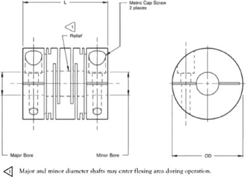 X Slot Shaft Couplings Diagram