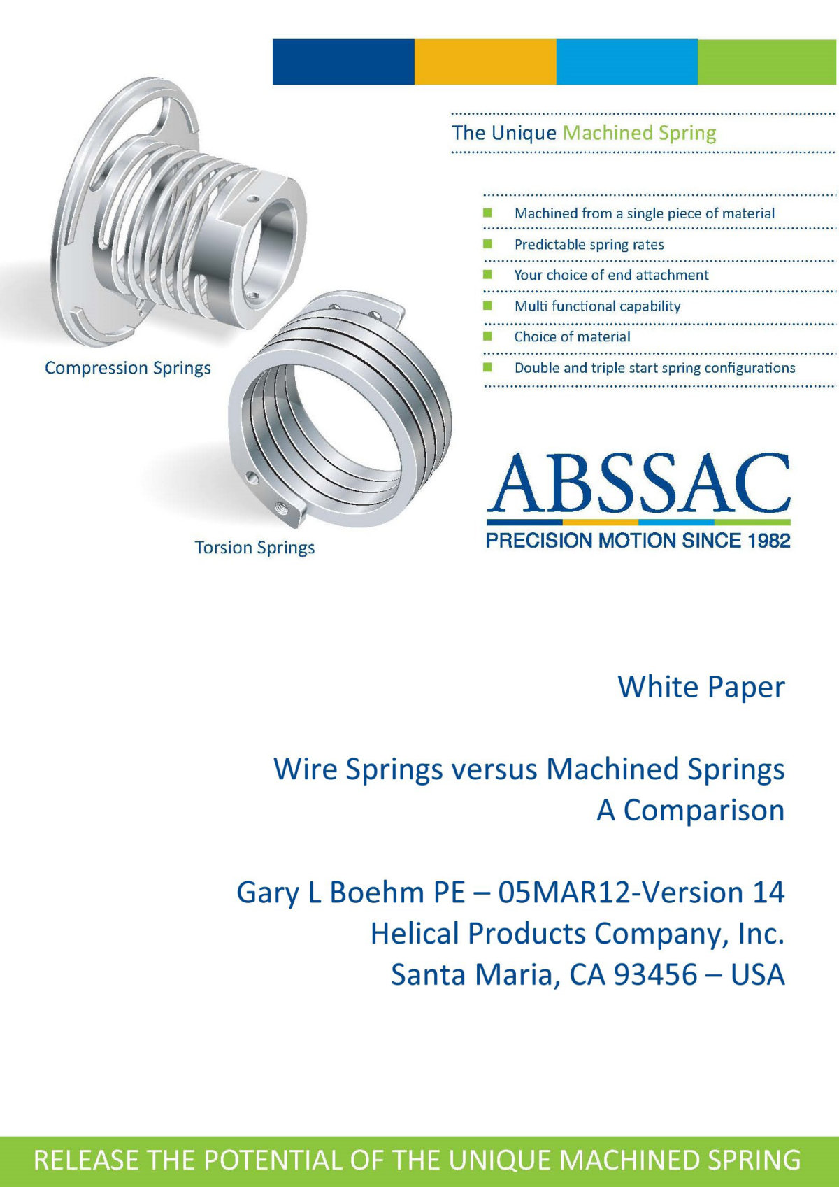 White Paper machined springs vs wound springs Page 23