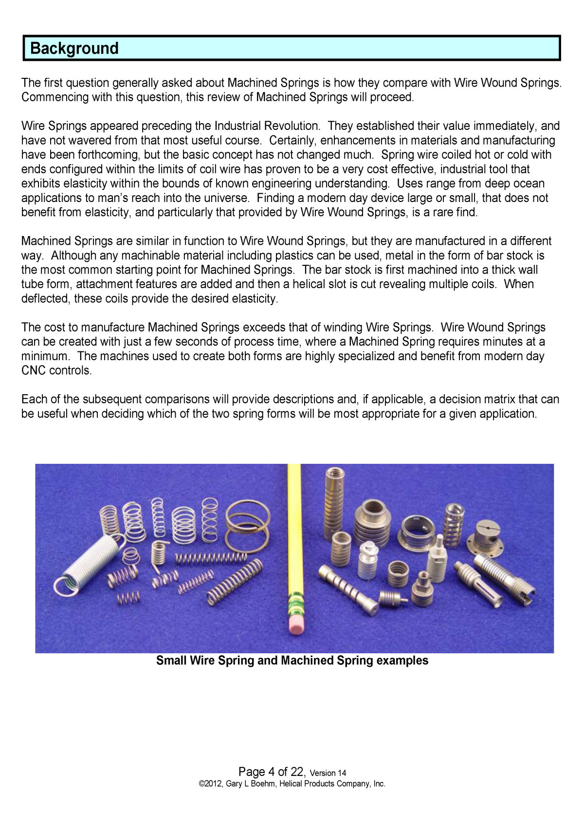 White Paper machined springs vs wound springs Page 9