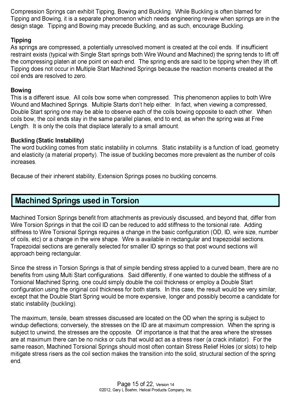 White Paper machined springs vs wound springs Page 14
