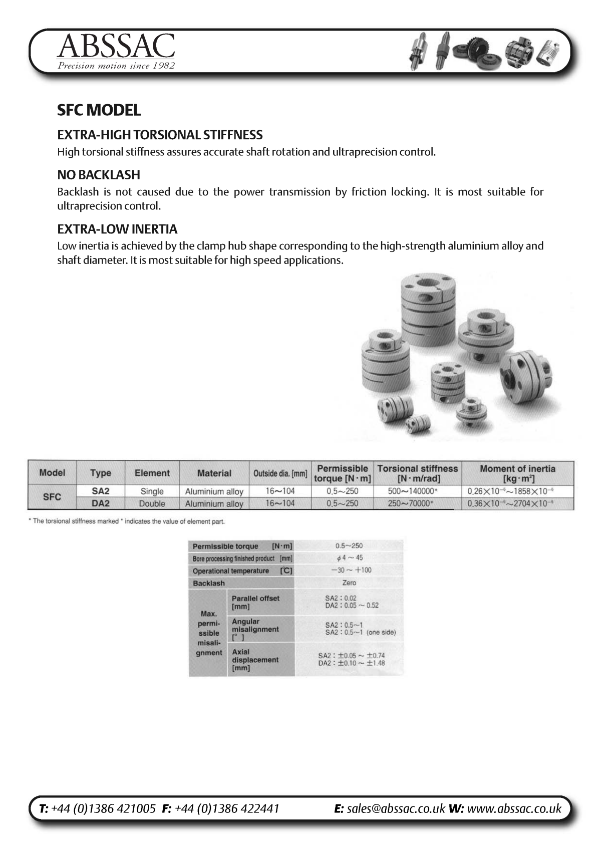 Abssac NC Servo Disc Shaft Coupling Page 8