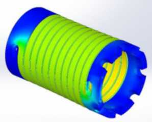Finite Element analysis for spring rate prediction