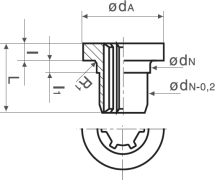 Bronze Flanged Sleeve Diagram 2