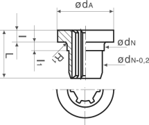 Steel Flanged Sleeve Diagram 2