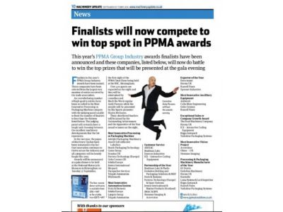 ABSSAC finalist in PPMA awards