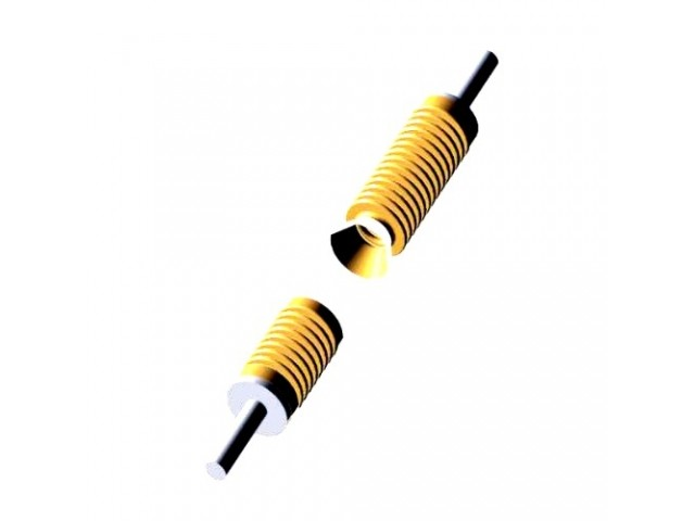 Electrical contact spring gives long life