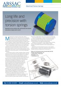 Machined Torsion Springs