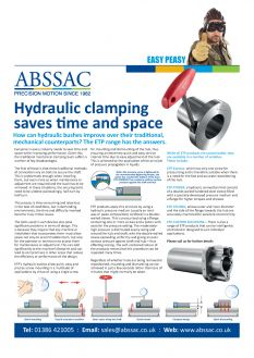 Easy Peasy: Abssac Hydraulic Clamping