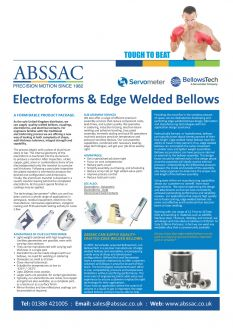 Electroforms and Edge Welded Bellows