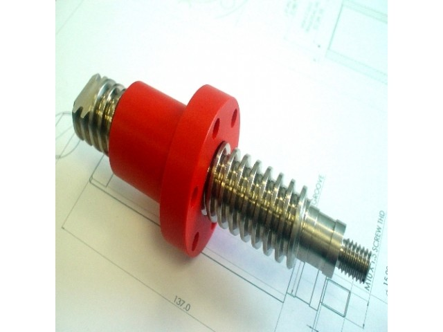 Stainless steel screws in left and right handed threads