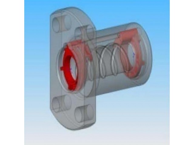 CAD internal design of ball nut